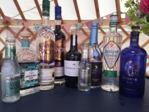 Our lovely donated gin and tonics