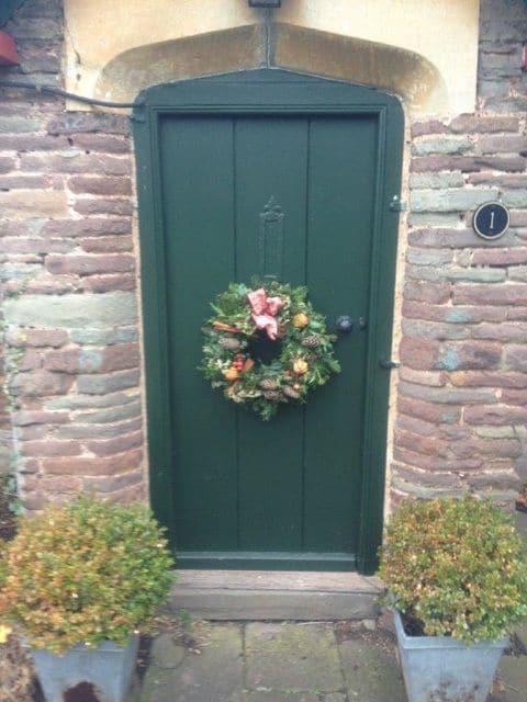 153_Green Door wreath